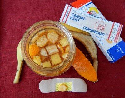Апельсин и банан от папиллом